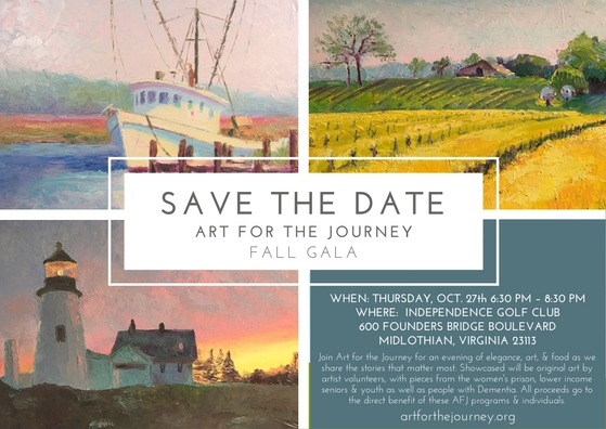 SAVE the DATE Art for the Journey GALA