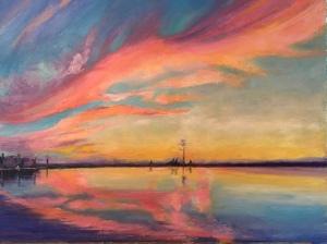 Soft Swanquarter sunset