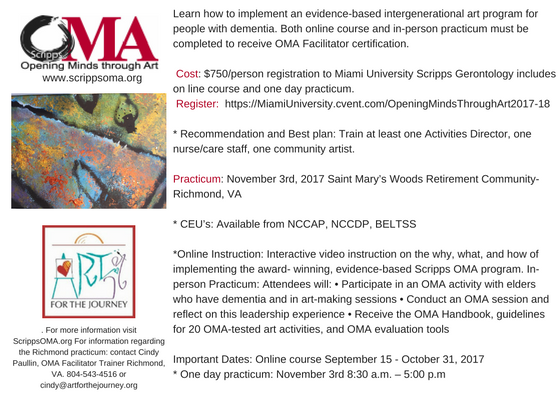 OMA Facilitator Training and Certification | Art for the Journey