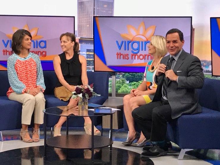 CBS6 set with Jamie, Cindy, Jess, and Greg